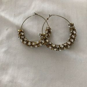 Anthropologie Diamond Hoops